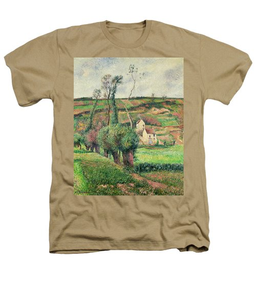 The Cabbage Slopes Heathers T-Shirt by Camille Pissarro