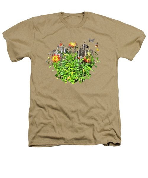 The Flowers Along The Fence  Heathers T-Shirt