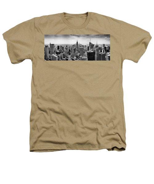 New York City Skyline Bw Heathers T-Shirt