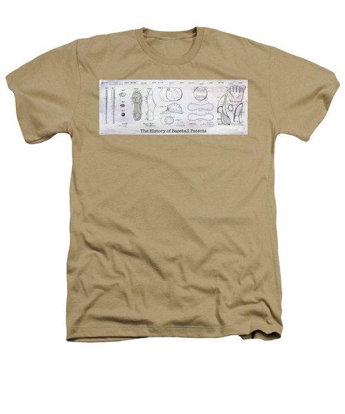 The History Of Baseball Patents Heathers T-Shirt by Jon Neidert