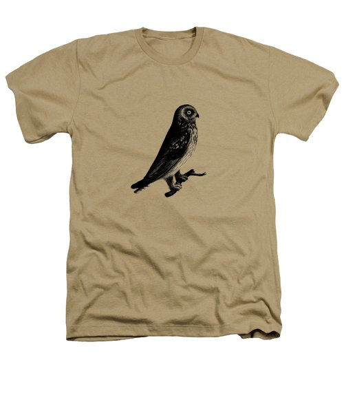 The Short Eared Owl Heathers T-Shirt by Mark Rogan