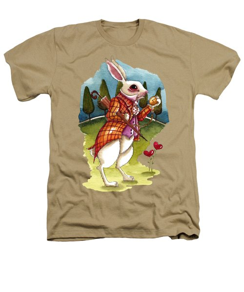 The White Rabbit Is Late Heathers T-Shirt by Lucia Stewart