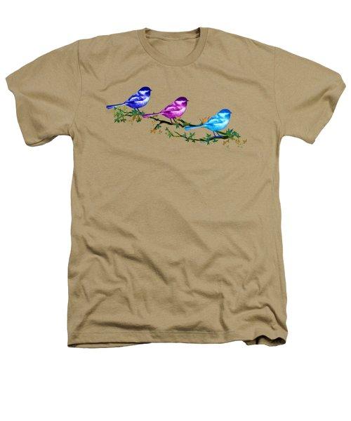 Three Chickadees Heathers T-Shirt