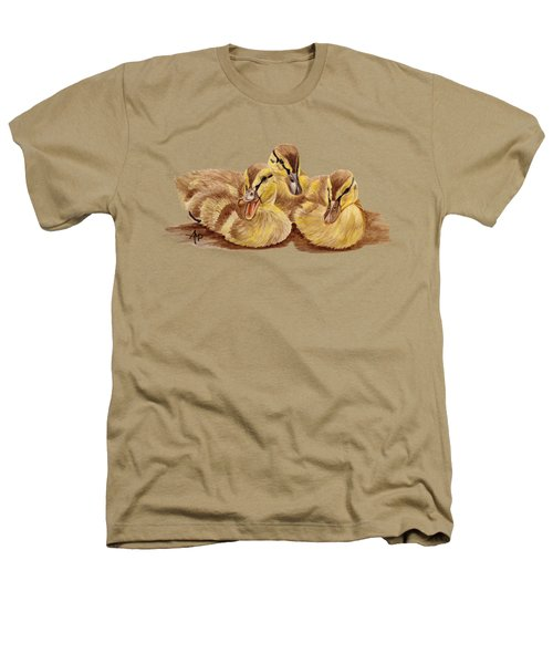 Three Ducklings Heathers T-Shirt by Angeles M Pomata