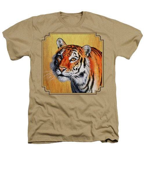 Tiger Portrait Heathers T-Shirt by Crista Forest