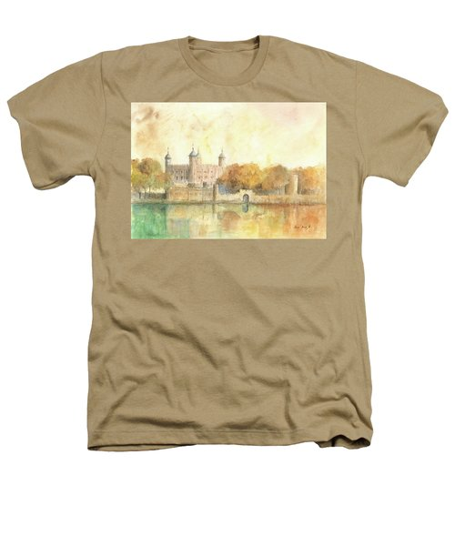Tower Of London Watercolor Heathers T-Shirt by Juan Bosco