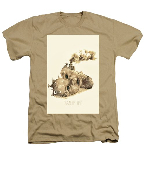 Train Of Life Heathers T-Shirt by Mauro Mondin