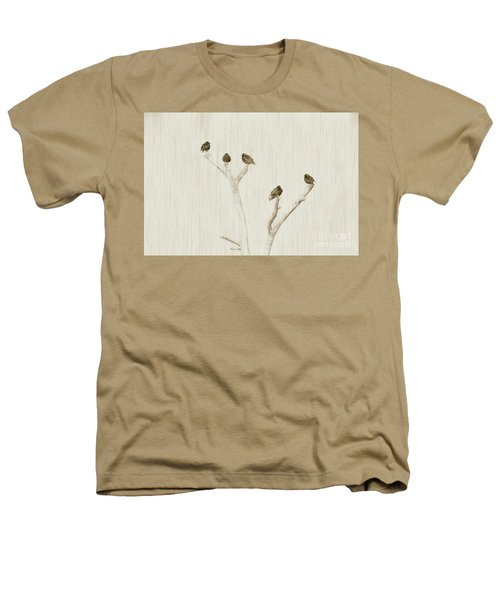 Treetop Starlings Heathers T-Shirt by Benanne Stiens