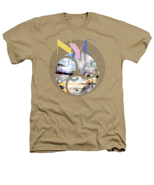 Trendy Design New York City Geometric Mix No 1 Heathers T-Shirt by Melanie Viola