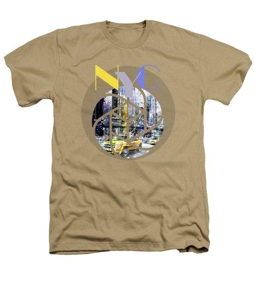 Trendy Design New York City Geometric Mix No 3 Heathers T-Shirt by Melanie Viola