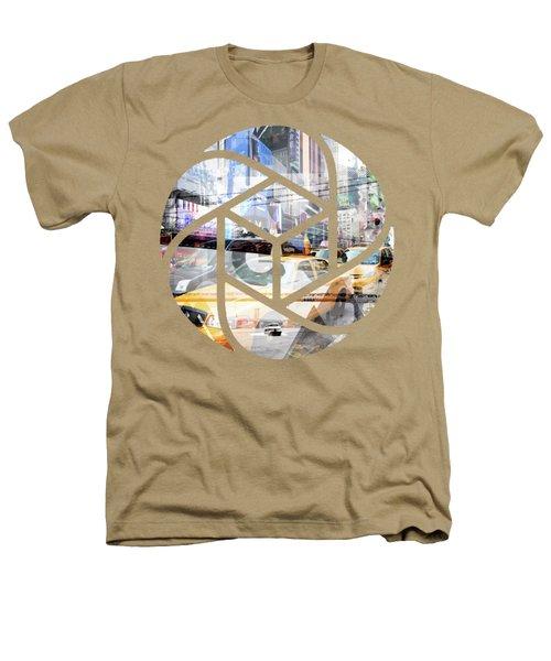 Trendy Design Nyc Geometric Mix No 9 Heathers T-Shirt by Melanie Viola