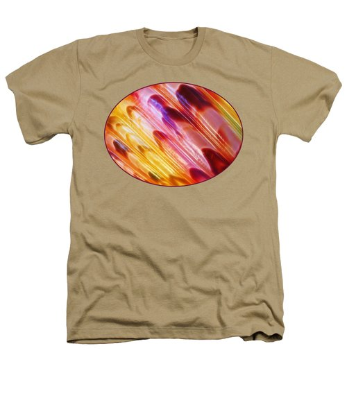 Triton Seashell Multicolor Abstract Heathers T-Shirt by Gill Billington