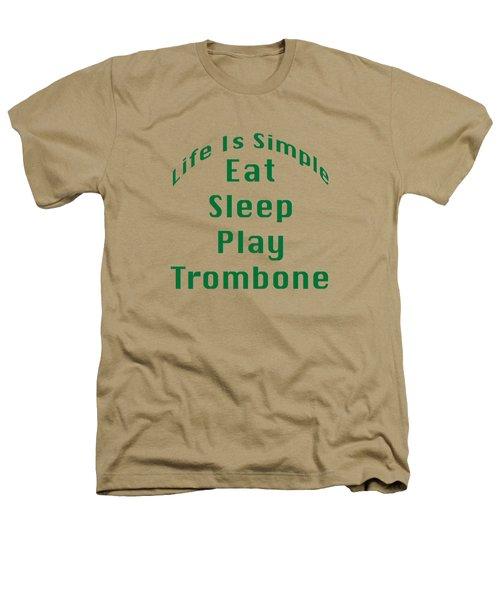 Trombone Eat Sleep Play Trombone 5517.02 Heathers T-Shirt by M K  Miller