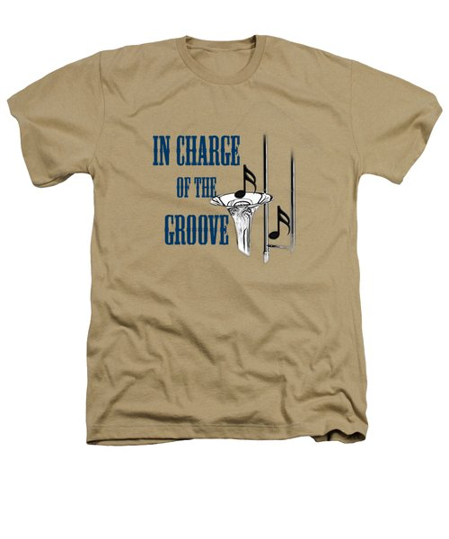 Trombones In Charge Of The Groove 5533.02 Heathers T-Shirt by M K  Miller