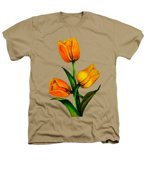 Tulips Heathers T-Shirt by Zina Stromberg