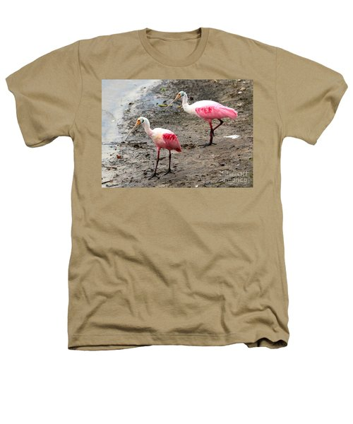 Two Roseate Spoonbills Heathers T-Shirt by Carol Groenen