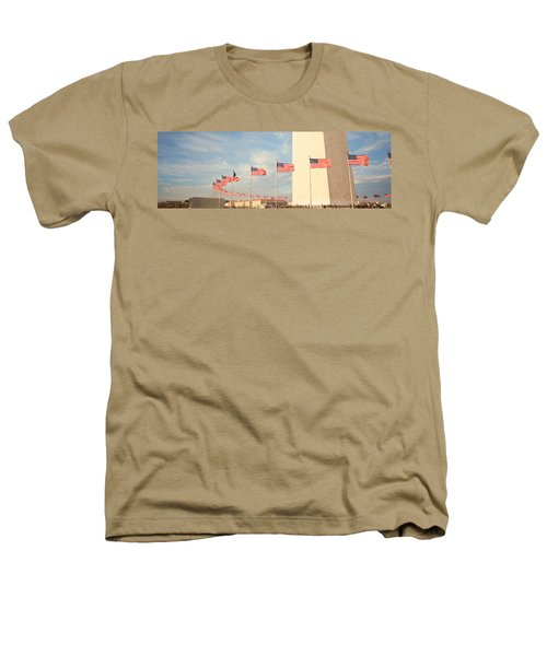 United States Flags At The Base Heathers T-Shirt by Panoramic Images
