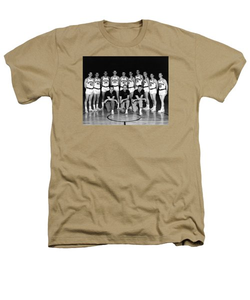 University Of Michigan Basketball Team 1960-61 Heathers T-Shirt by Mountain Dreams