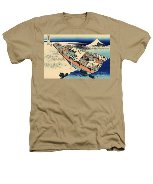 Ushibori In The Hitachi Province Heathers T-Shirt by Hokusai