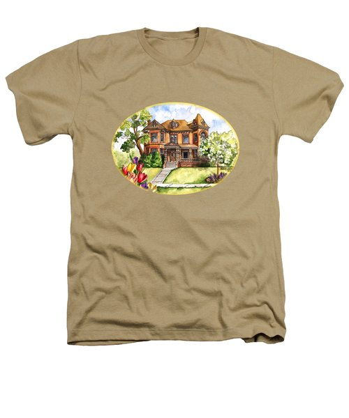 Victorian Mansion In The Spring Heathers T-Shirt by Shelley Wallace Ylst