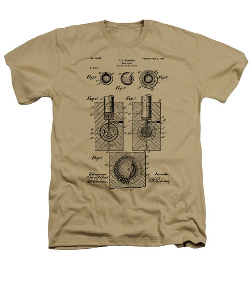 Vintage 1902 Golf Ball Patent Artwork Heathers T-Shirt