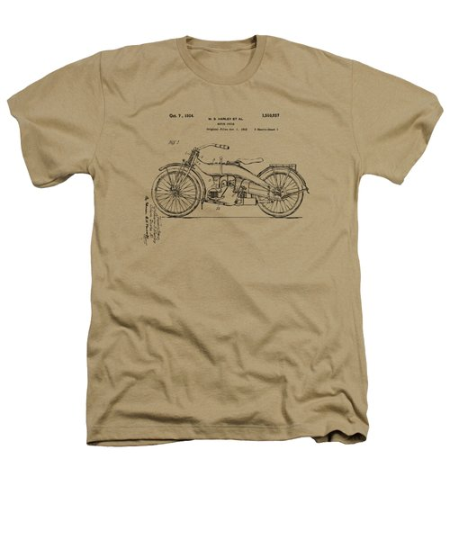 Vintage Harley-davidson Motorcycle 1924 Patent Artwork Heathers T-Shirt