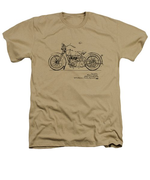 Vintage Harley-davidson Motorcycle 1928 Patent Artwork Heathers T-Shirt by Nikki Smith