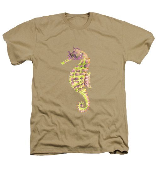 Violet Green Seahorse Heathers T-Shirt by Amy Kirkpatrick