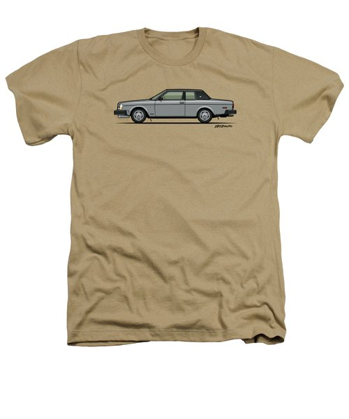 Volvo 262c Bertone Brick Coupe 200 Series Silver Heathers T-Shirt by Monkey Crisis On Mars