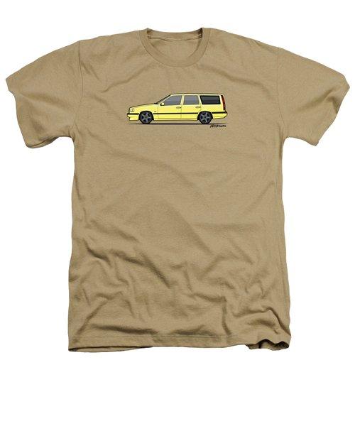 Volvo 850r 855r T5-r Swedish Turbo Wagon Cream Yellow Heathers T-Shirt by Monkey Crisis On Mars