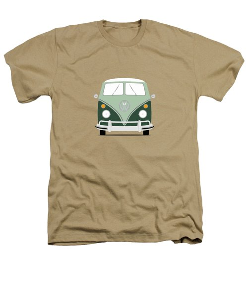 Vw Bus Green Heathers T-Shirt by Mark Rogan
