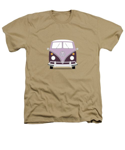 Vw Bus Purple Heathers T-Shirt by Mark Rogan