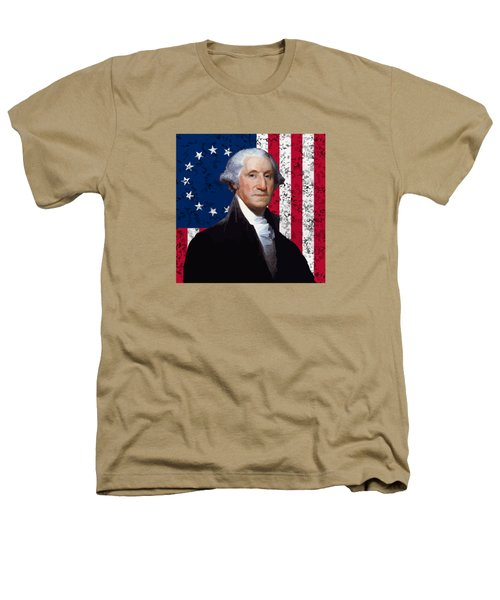 Washington And The American Flag Heathers T-Shirt
