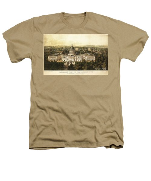 Washington City 1857 Heathers T-Shirt by Jon Neidert