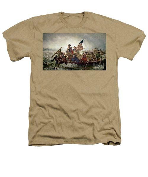 Washington Crossing The Delaware River Heathers T-Shirt by Emanuel Gottlieb Leutze