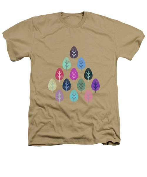 Watercolor Forest Pattern II Heathers T-Shirt by Amir Faysal