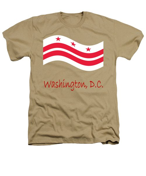 Waving District Of Columbia Flag And Name Heathers T-Shirt by Frederick Holiday
