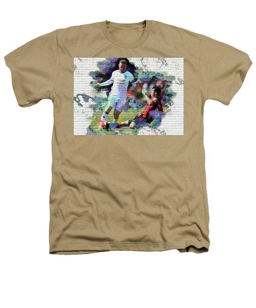 Wayne Rooney Street Art Heathers T-Shirt by Don Kuing
