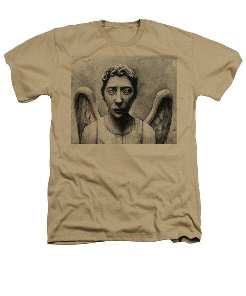 Weeping Angel Don't Blink Doctor Who Fan Art Heathers T-Shirt by Olga Shvartsur