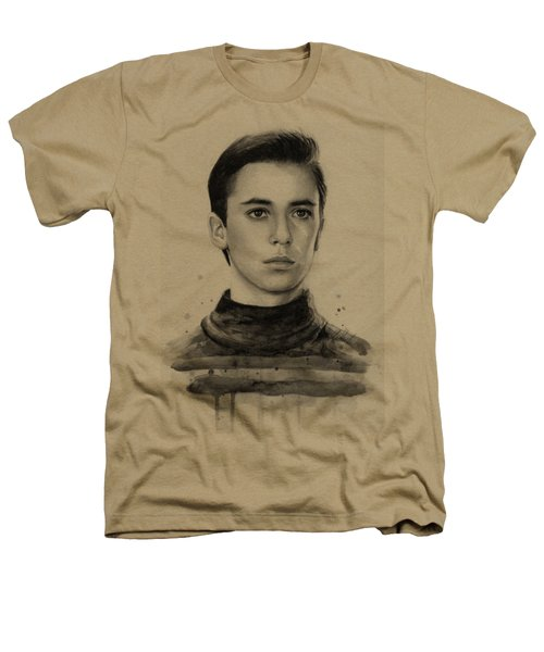 Wesley Crusher Star Trek Fan Art Heathers T-Shirt by Olga Shvartsur