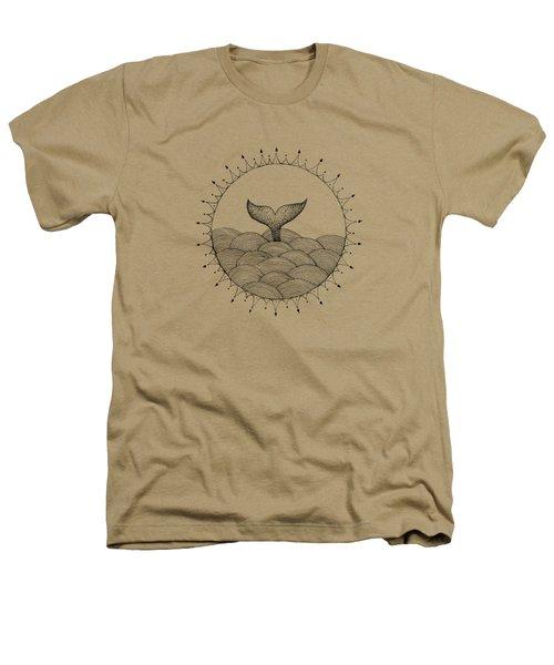 Whale In Waves Heathers T-Shirt by Konstantin Sevostyanov