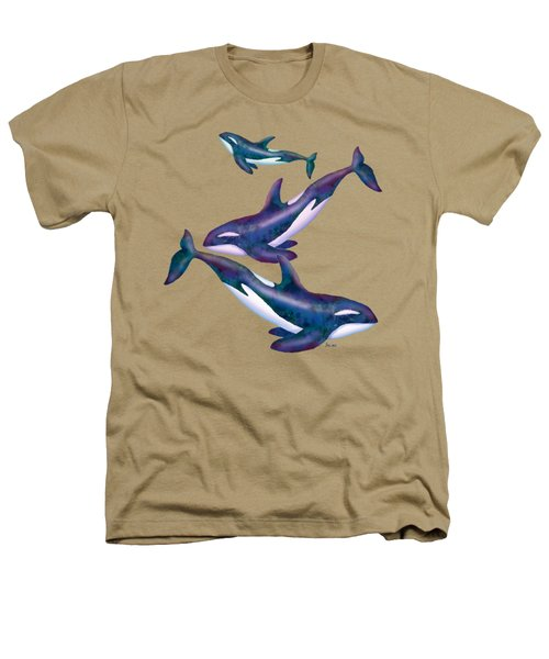 Whale Whimsey Design Heathers T-Shirt by Teresa Ascone