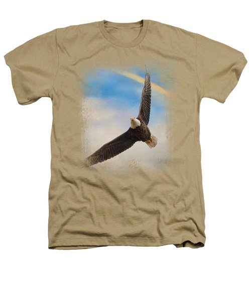 When My Wings Touch The Rainbow Heathers T-Shirt by Jai Johnson