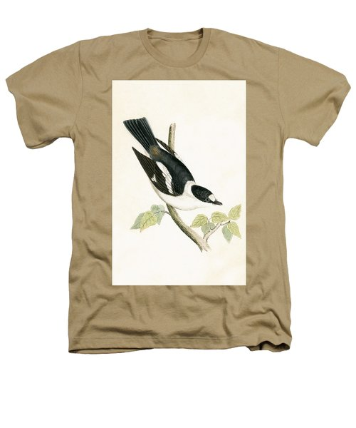 White Collared Flycatcher Heathers T-Shirt