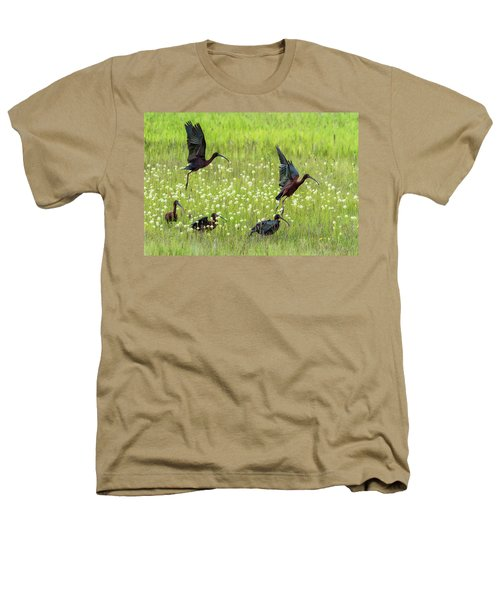 White-faced Ibis Rising, No. 1 Heathers T-Shirt