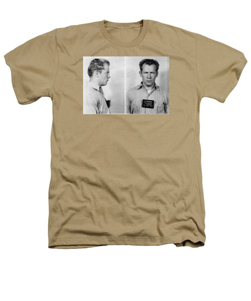 Whitey Bulger Mug Shot Heathers T-Shirt by Edward Fielding