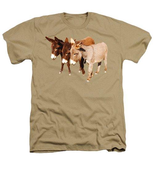 Wild Burro Buddies Heathers T-Shirt by Sandra O'Toole