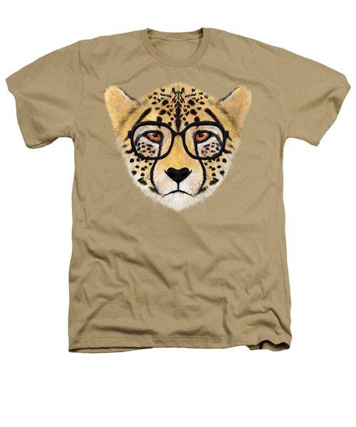 Wild Cheetah With Glasses  Heathers T-Shirt