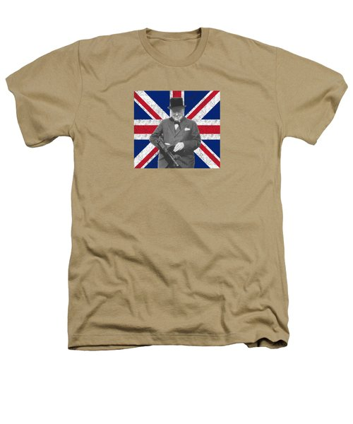 Winston Churchill And His Flag Heathers T-Shirt by War Is Hell Store