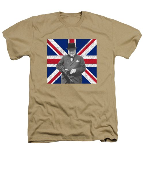 Winston Churchill And His Flag Heathers T-Shirt